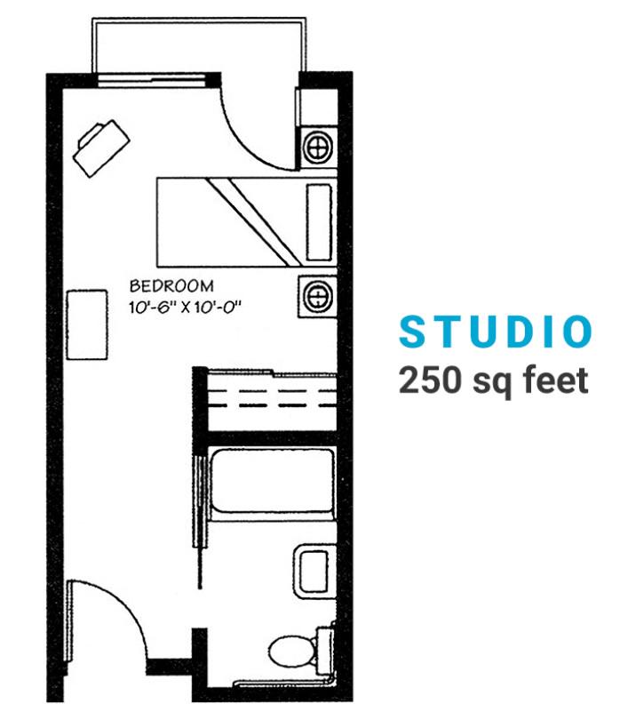 Studio-250-sq-ft